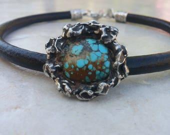 Chokers~Turquoise Choker ~Native American Jewelry~leather Collar