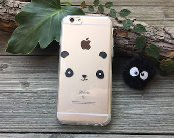 Panda Mask iPhone Case, Your choice of Soft Plastic (TPU) or Wood