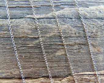 Sterling silver trace chain. 16 inches