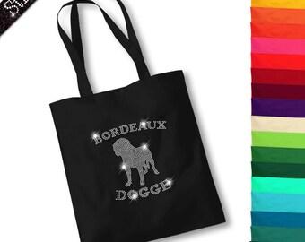 Bag with rhinestone design Dogue de Bordeaux M1