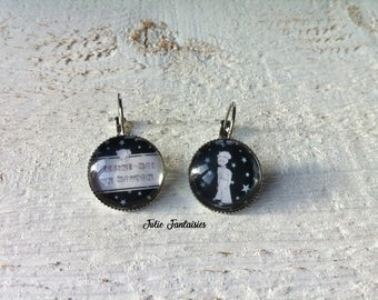 """""""Tales and legends"""" earrings - round Cabochon 18 mm"""