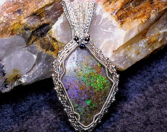 Louisiana Opal (Extremely Rare) Pendant - 41.5 carats - Over Abundance of Fire!  (Lo137)