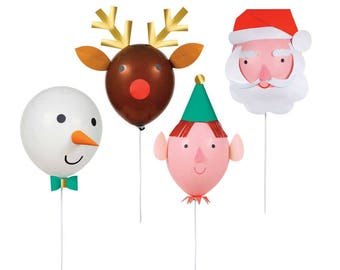 Christmas Balloon Kit, Holiday Balloons, Meri Meri Christmas Party Supplies, DIY Christmas Decor, Reindeer Christmas, Kids Christmas Crafts