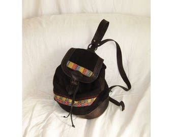 90s South American Woven Backpack