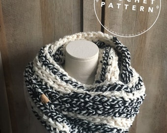 Infinity Scarf Crochet Pattern, The Georgian Infinity Scarf, Beginner Crochet Pattern