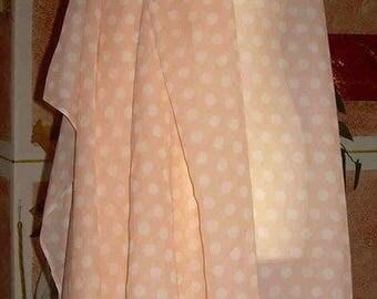 orange chiffon with polka dots