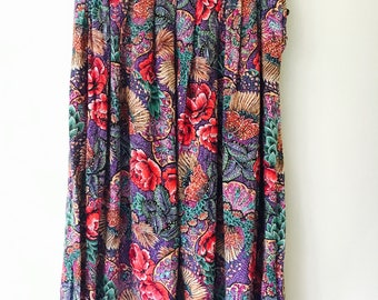 Vintage Boho Festive Flower Power Skirt