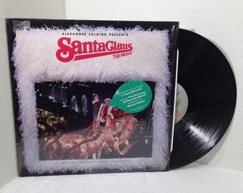 Santa Claus The Movie Soundtrack vinyl record 1985 various Christmas VG+