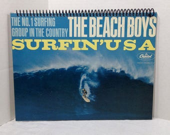Beach Boys Surfin' USA Album Cover Notebook Handmade Spiral Journal
