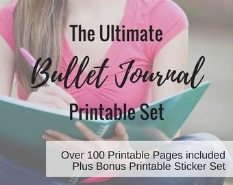 The Ultimate Bullet Journal Starter Set - Printables / Digital Downloads - OVER 110 PAGES