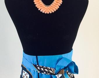 Ankara Belt/ African wax print belt/ Obi Belt/Reversible fabric belt