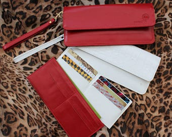 Red wallet clutch, Beautiful red clutch, Beautiful skinny clutch, Beautiful skinny red wallet, Pure red skinny wallet,pure red skinny clutch
