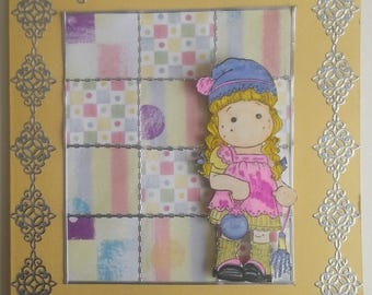 "scrapbooking with stamp ""tilda"" magnolia card"