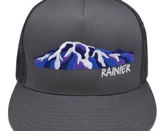 Mount Rainier Alpenglow Trucker Hat
