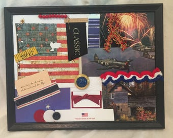 2017 Independence Day Veteran inspired patriotic independence day mixed media collage