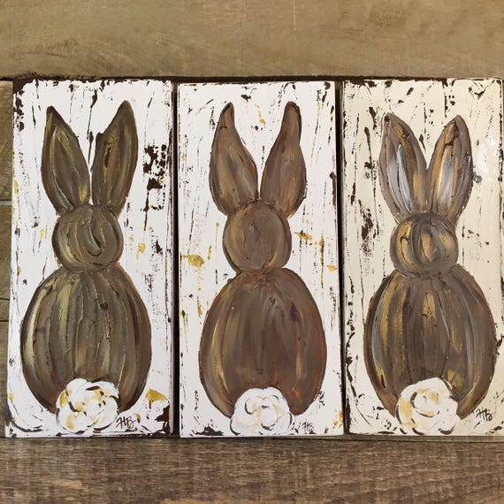 Bunny art, Easter bunny, Easter decor, Spring art, Easter gift, nursery art, baby gift, Farmhouse bunny, Farmhouse Spring decor