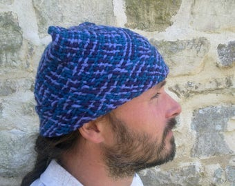 Log-cabin weave hat