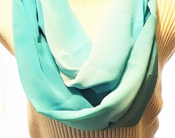 Turquoise Infinity Scarf, Infinity Scarves, Eternity Scarves, J'NING Accessories,