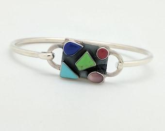 Sterling Silver Multi-Gemstone Bracelet 7
