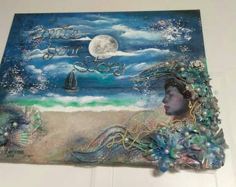 Create Your Story Mixed Medium Canvas