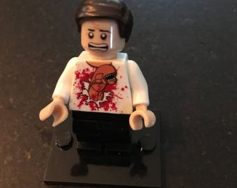 Alien Movie Chestburster scene - Kane (John Hurt) - Lego Compatible / Custom Minifigure