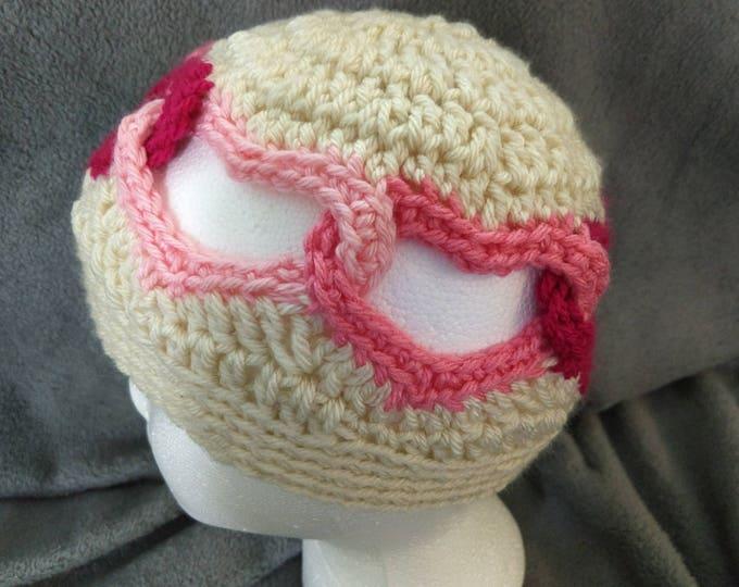 Linked Hearts Crochet Hat