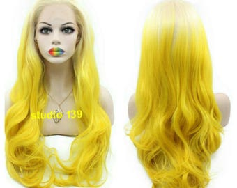 Mello-Yellow ombre lace front wig