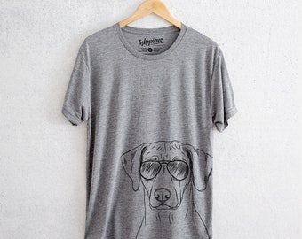 Ronan the Rhodesian Ridgeback - Tri-Blend Unisex Crew Grey - Dog Lover Gift