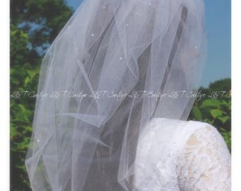 Wedding Veil, Bubble Bridal Veils, Beaded Wedding Veils, Custom Veil, Puffy Veils, Custom Bridal Veils, READY TO SHIP