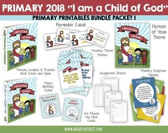 I Am a Child of God Primary 2018 Bundle Packet #1