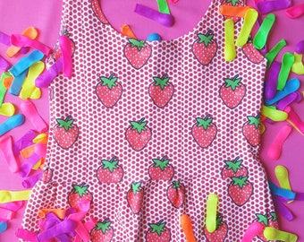 Strawberry Tank - love - monochrome - ballet - dance - organic - cotton candy