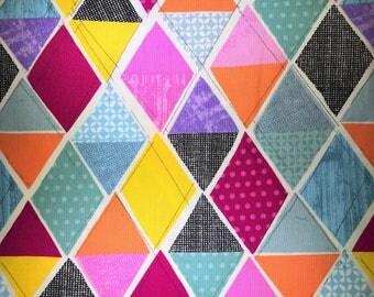 Quilting triangles fabric. Geometric fabric