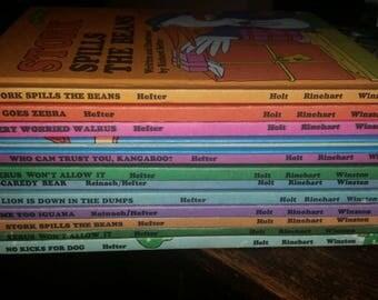Lot of 10 Sweet Pickles Books Richard Hefter Lion Down In The Dumps, Me Too Iguana, Scaredy Bear, Xerus Won't Allow It, Zip Goes Zebra