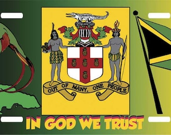 Jamaica In God We Trust License Plate