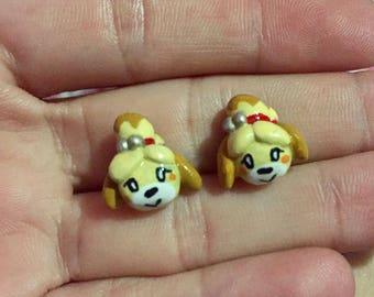 Animal Crossing Isabelle Polymer Earrings
