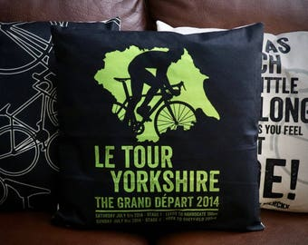 Tour De Yorkshire - Tour De France Cycling Cushion Cover - Road Bike - Exclusive to EllieBeanPrints