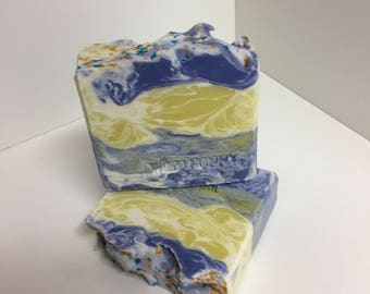 Blueberry Lemon Soap / Artisan Soap / Handmade Soap / Soap / Cold Process Soap