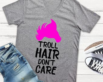 Troll Hair Don't Care Svg file Dxf file Png Trolls Svg Cutting file png file Trolls Shirt Design Iron On Cricut Explorer Silhouette Cameo