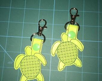 Sea Turtle Key Chain/key fob/snap tab