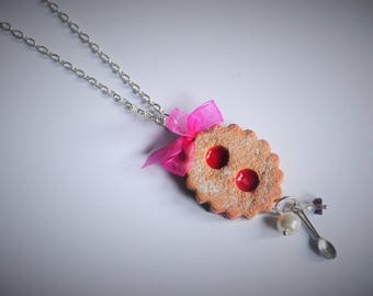 Cake glasses necklace - Pink bow