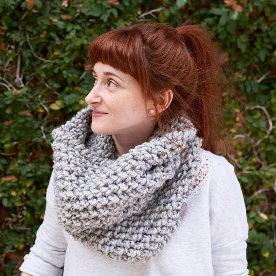 The Pebble • Cowl • Crochet Chunky Knit • Colour: EARL GREY
