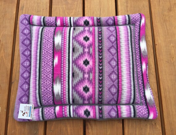 Purple Southwestern Dog Bed, Dog Crate Pad, Western Decor, Cat Carrier Pad, Cat Bed, Puppy Bed, Small Crate Pad, Fleece Beds, Aztec Bedding