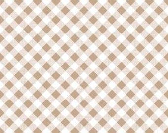 NUTMEG Gingham by Riley Blake, 100% Cotton, NUTMEG Check, Brown Gingham, Brown Check