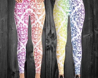 Damask Rainbow Leggings