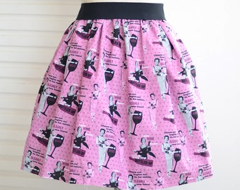 modern lady skater full skirt,ladies skirt,A-Line skirt,pink skirt,knee-length skirt