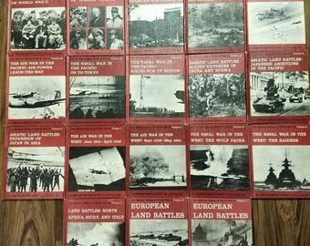 Vintage Book Set: Military History Of World War II, 1962. 1-18 Volume Set. Dupuy Col. U.S. Army, Ret. Veterans Memorabilia History Books.