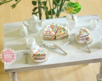 Miniature Rainbow Cake (Charms!)