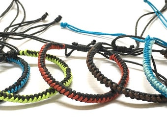 Friendship Bracelet, Wax Cord Bracelet, Beach, Surfer Bracelet!