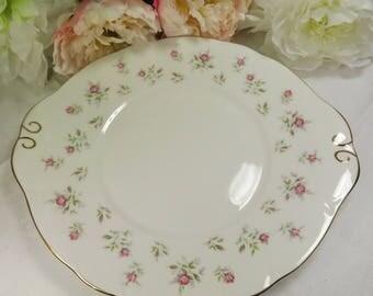 Cake Plate Vintage Duchess Roses Unused Excellent