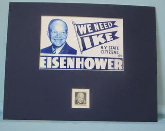 President Dwight Eisenhower honored by  his own stamp